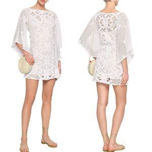MIGUELINA White Crochet Beach Dress